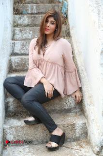 Telugu Actress Aditi Singh Stills in Leather Pants at Nenu Kidnap Iyanu Movie Press Meet  0219.JPG