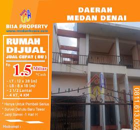 Rumah Konsep Mewah 2 1/2 lantai Daerah Medan Denai dijual <del>Rp 1,8 Miliar</del> <price>Rp 1,5 Miliar</price> <code>RUMAHMEDANDENAI</code>
