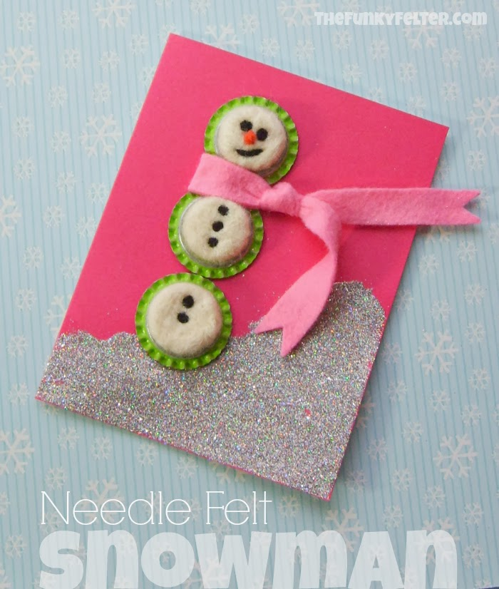 Needle Felted Wool Snowman Craft Tutorial by Shalana Frisby