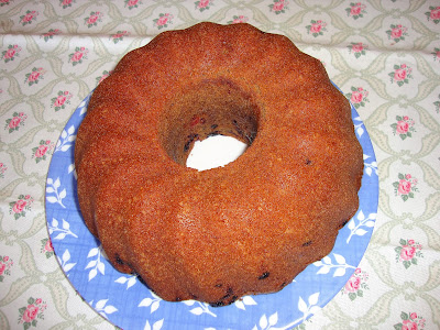 Bundt cake de frutos rojos