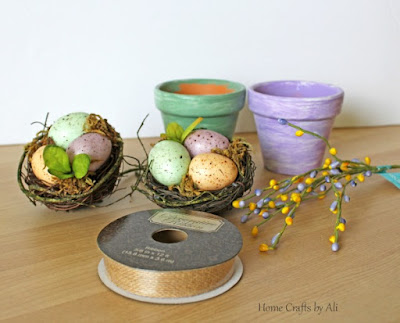 Supplies used to make easy spring decor