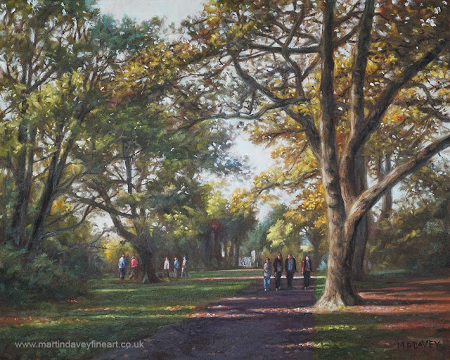 Southampton common in autumn art Martin Davey