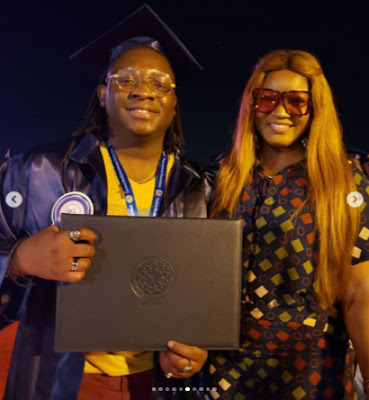 Omotola jalade Ekeinde's son graduates with honors from Eastern Mediterranean University in Cyprus