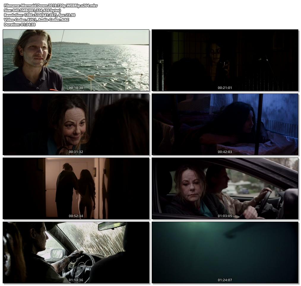 Mermaid Down 2019 720p WEBRip x264 | 480p 300MB | 100MB HEVC Screenshot