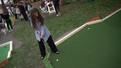 Event-агентство Esthetic Joys провело мероприятие в американском стиле на гольф-поле «Чайки».