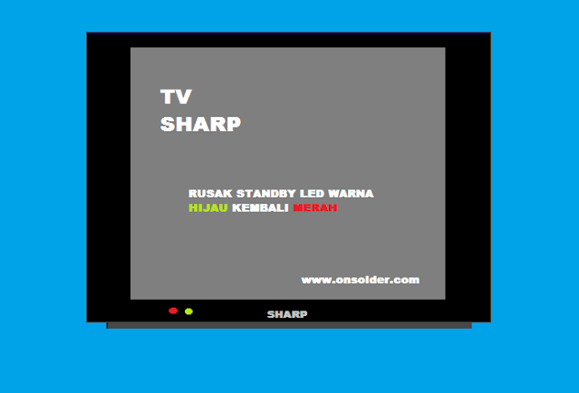 Memperbaiki TV SHARP Standby LED Warna hijau Kembali ke Warna merah