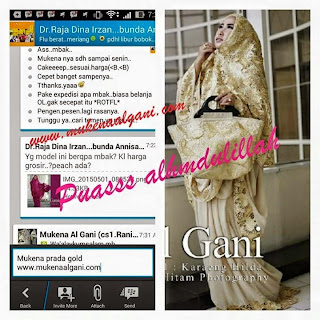 11181399_1450962498529641_160700794771955603_n Dokter barbie Tika  cantik wearing Mukena Najwa super duper Best Seller 😍