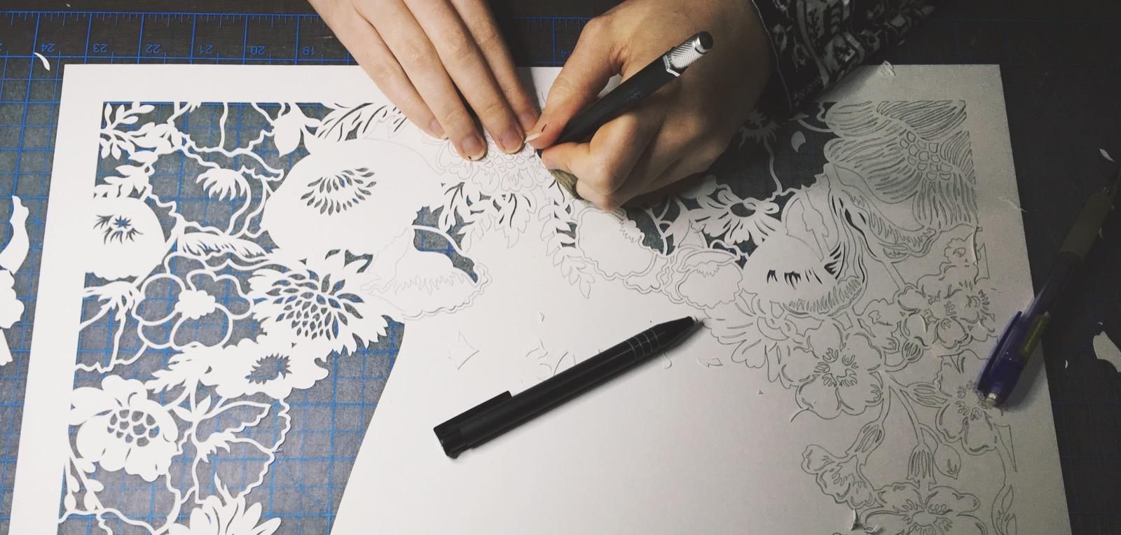 papercutting ketubah