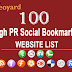 100+ High PR Social Bookmarking Websites - Updated List 2016
