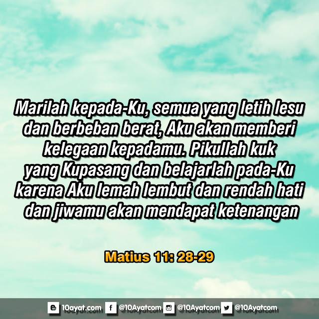Matius 11: 28-29