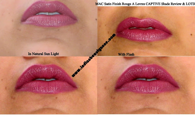 MAC Captive lip swatches