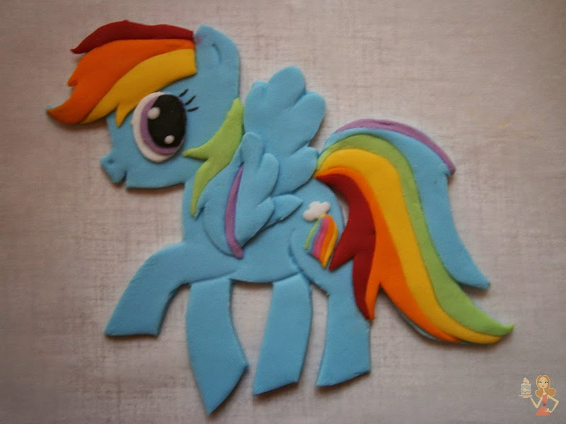Rainbow dash pony cake for Rainbow dash cake template