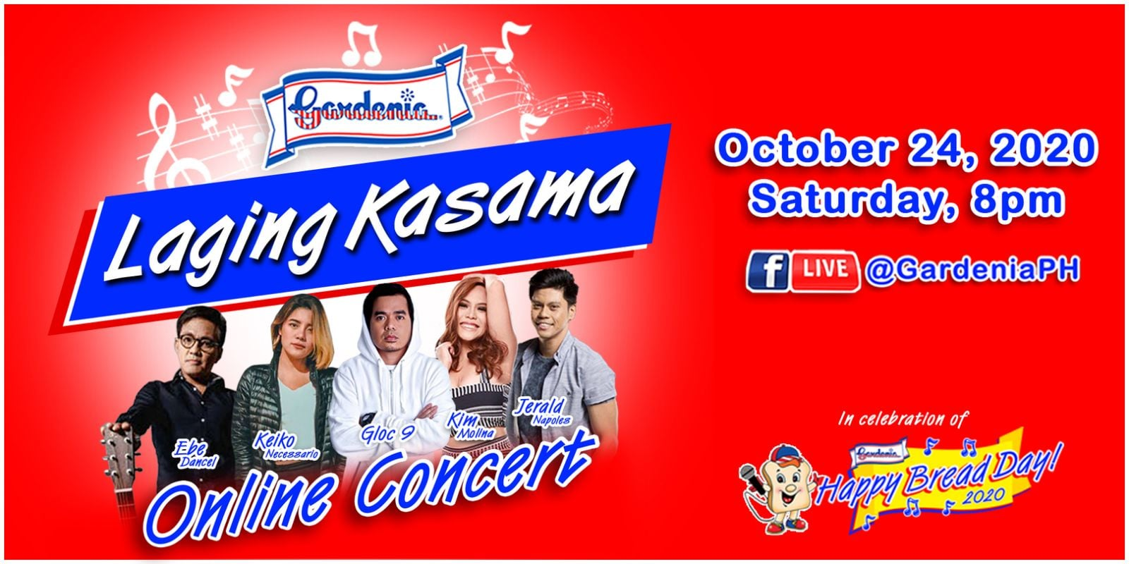 "Gardenia Celebrates ""Happy Bread Day"" with ""Laging Kasama"" Virtual Concert"