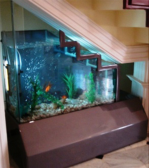 Bespoke Under Stairs Shelving: Super Bowl Update: No Room For An Aquarium? Think Again