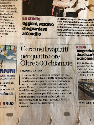 Use of CERCANSI in L'Eco di Bergamo February 26, 2019 edition.