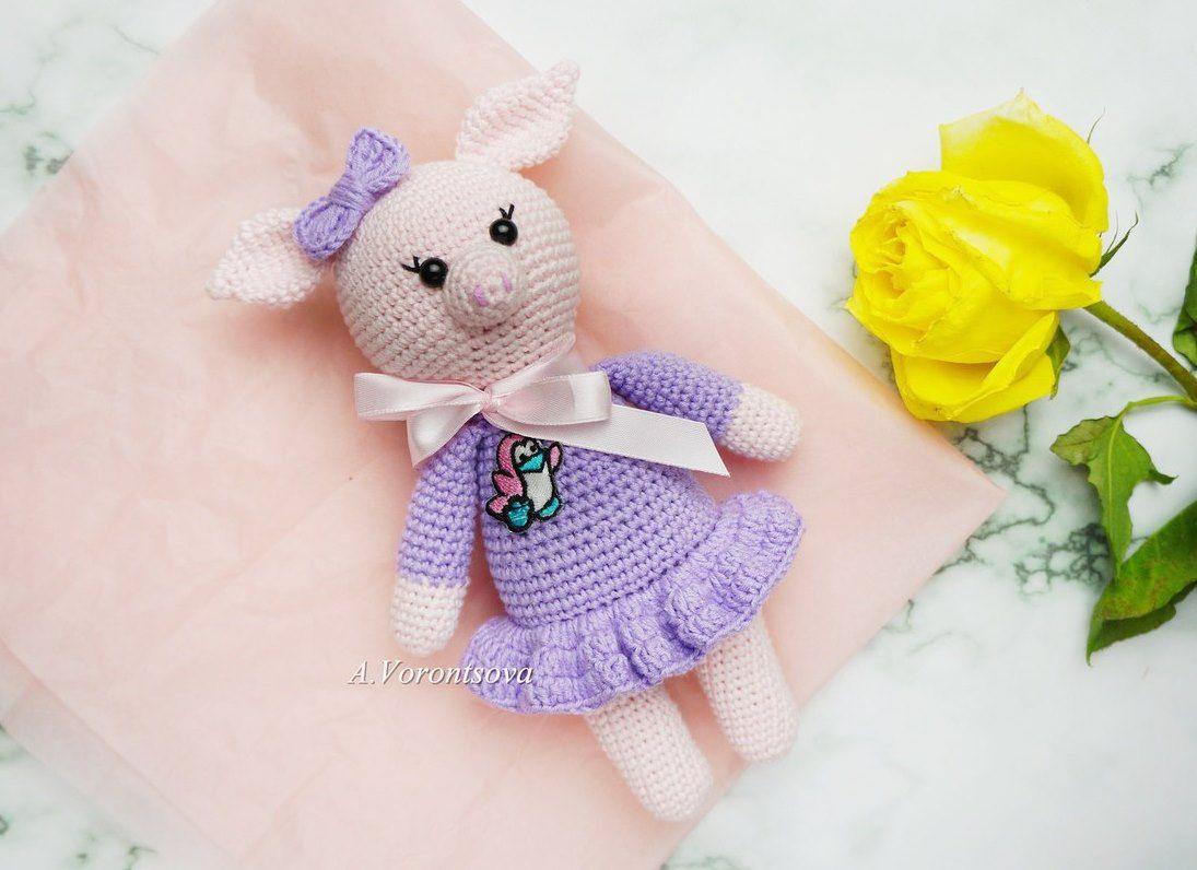 Amigurumi Pig : Crochet pig amigurumi pattern amiguroom toys
