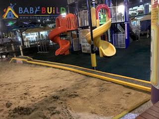兒童新樂園遊戲設施旁防護條更新