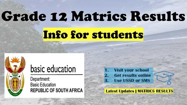 Grade 12 matric result 2020