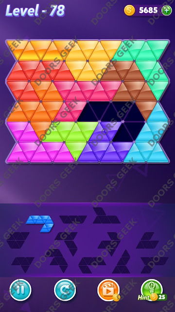 Block! Triangle Puzzle Grandmaster Level 78 Solution, Cheats, Walkthrough for Android, iPhone, iPad and iPod
