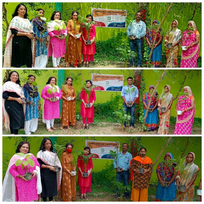 आशा वेलफेयर फाउंडेशन : पूर्व माध्यमिक विद्यालय गोयला में किया पौधरोपण