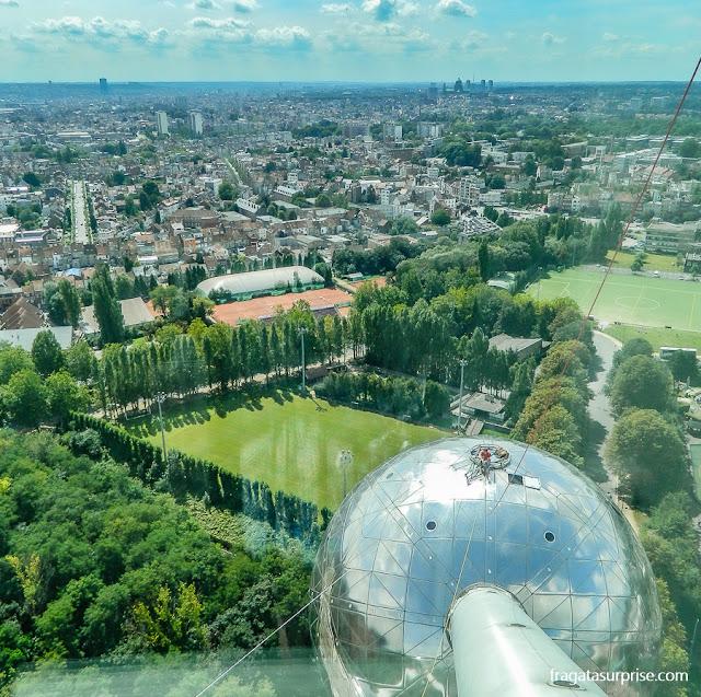 Bruxelas vista do alto do Atomium