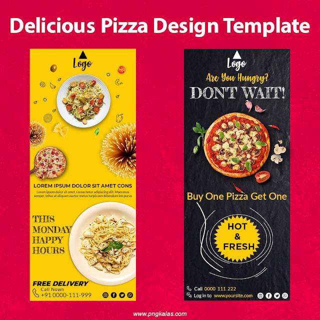 Delicious Pizza Poster Design Template