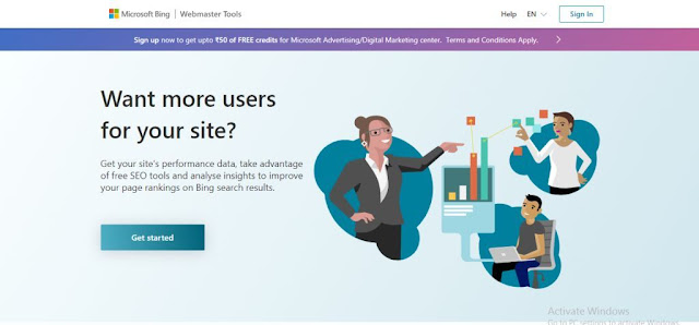 Bing Webmaster Tools explain in Marathi