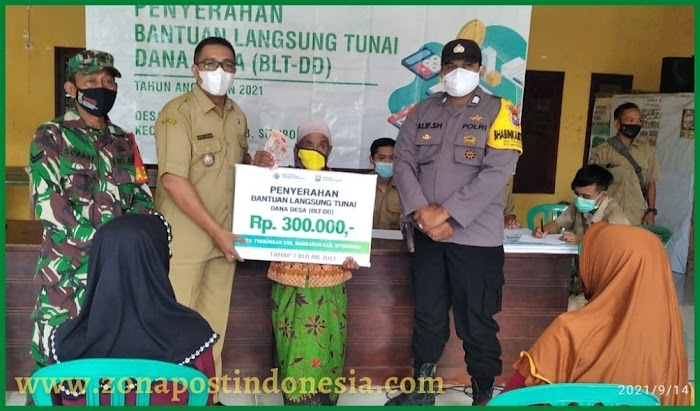 Pemerintah Desa Trebungan, Kembali Salurkan Bantuan Langsung Tunai Dana Desa (BLT DD)