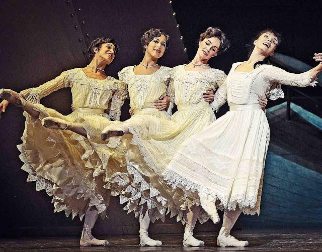 quatro bailarinas olga, tatiana, maria e anastasia