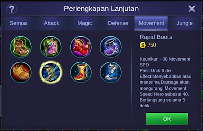 Rapid Boots Mobile Legends