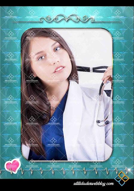 Elegante marco para fotos del día del medico