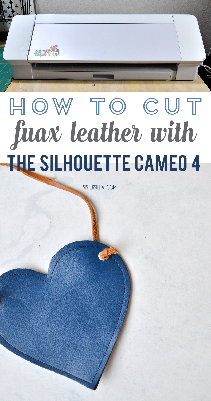 How to cut with faux leather with cameo 4