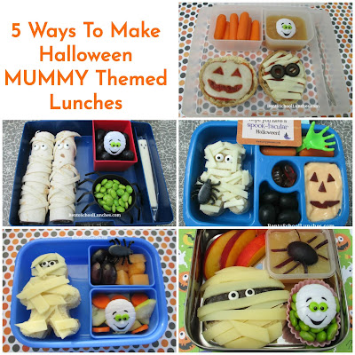 5 Ways To Make Halloween MUMMY Themed Lunches