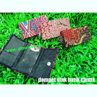 souvenir pernikahan dompet stnk batik cantik