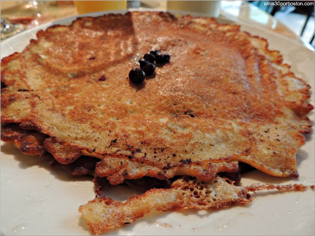 Pancakes con Arándanos de Maine en Bar Harbor, Maine
