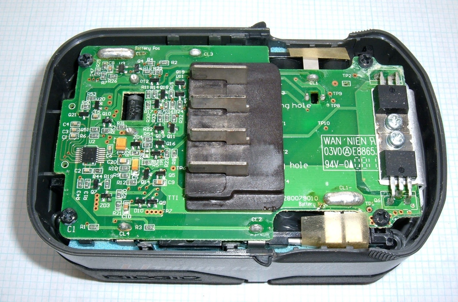 Syonyks Project Blog Rigid 18v Lithium Ion Tool Battery Teardowns Rechargeable Lithiumion Batteries With Protection Circuit Board Pcb The Hole In Is For 1n5406 Diode Why It Requires A Slightly Beyond Me But There