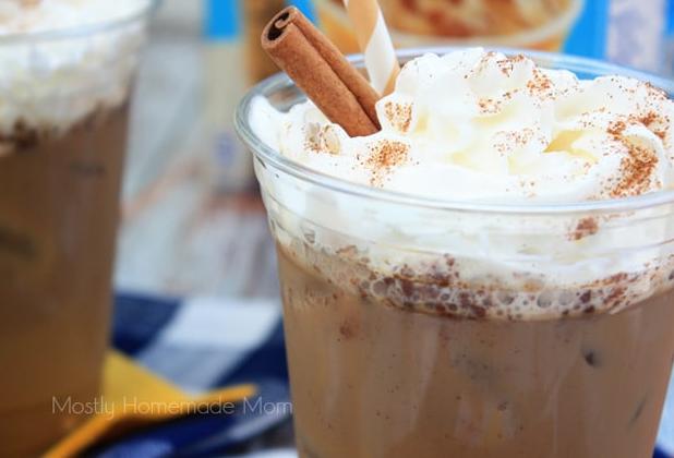 Cinnamon Roll Iced Coffee #coffee #ice