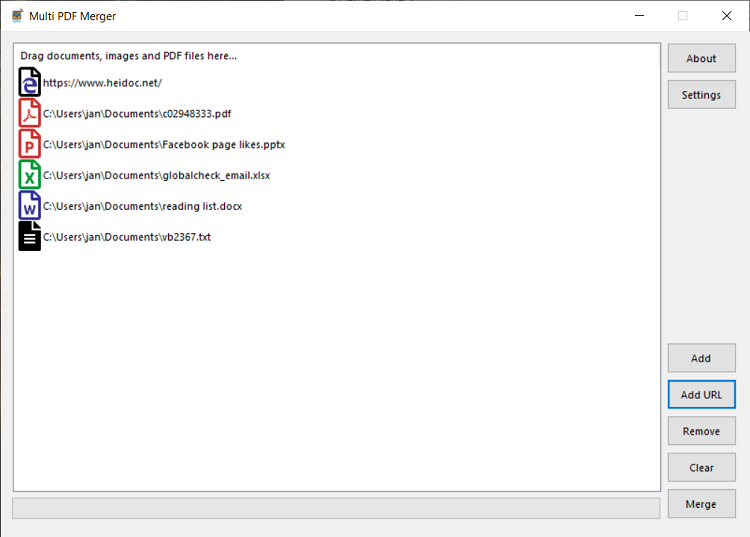 Multi PDF Merger Program Görüntüsü