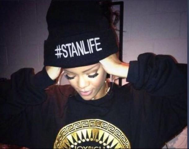 Rihanna #STANLIFE beanie hat. PYGOD.COM
