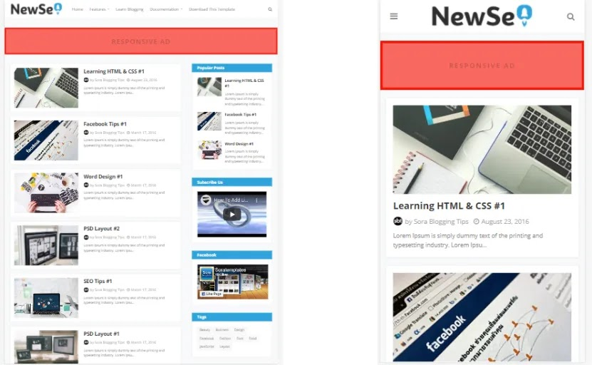 High Quality New SEO Blogger Template