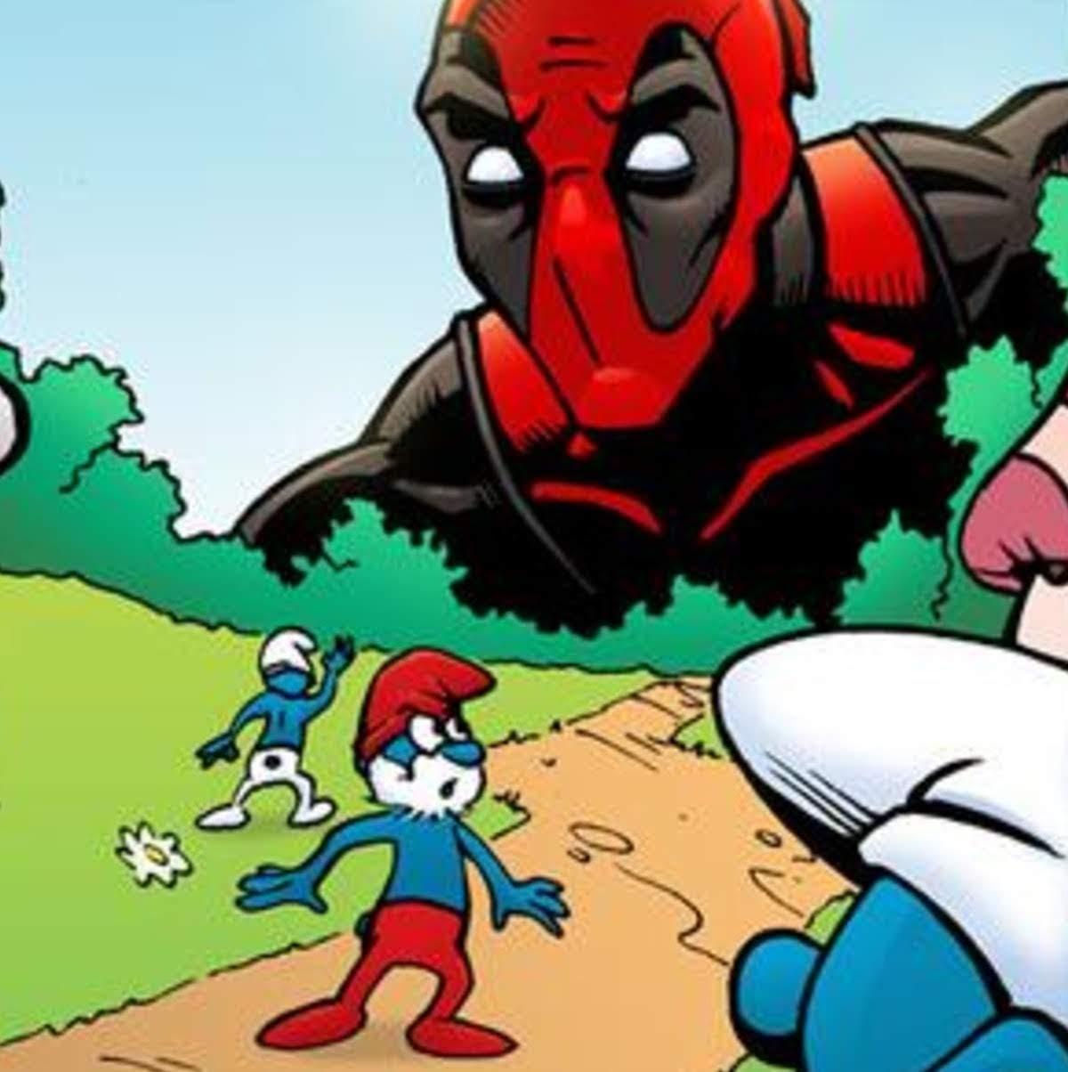 Deadpool vs. The Smurfs : デッドプール VS. 青い小人のスマーフたち ! !