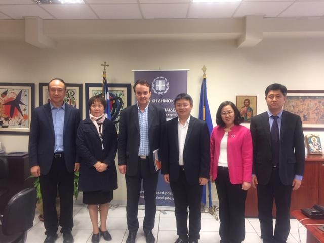 Επίσκεψη Κινέζων Εκπαιδευτικών στα γραφεία της Περιφερειακής Διεύθυνσης Εκπαίδευσης Κεντρικής Μακεδονίας.