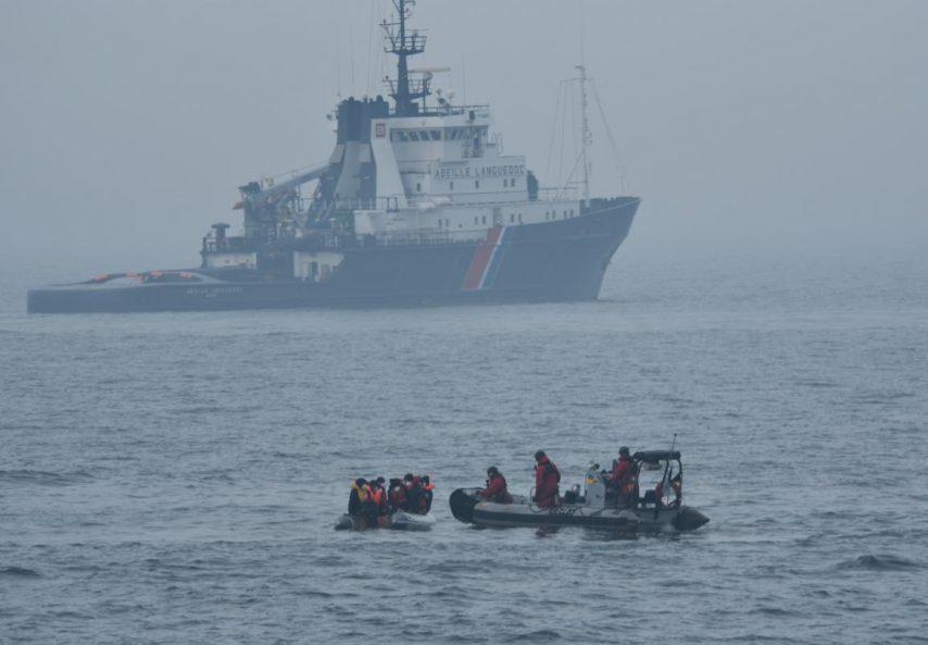Trois passeurs arrêtés avec des migrants au large de Cherbourg