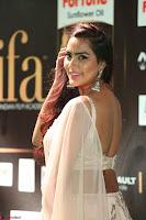 Prajna Actress in bhackless Cream Choli and transparent saree at IIFA Utsavam Awards 2017 021.JPG