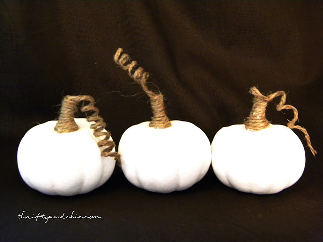 white and jute pumpkin