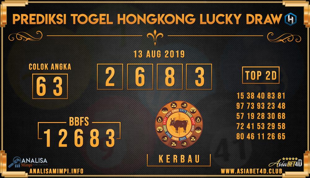 PREDIKSI TOGEL HONGKONG LUCKY DRAW ASIABET4D 13 AUG 2019