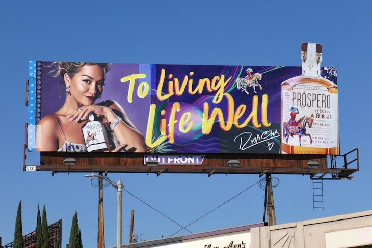 Rita Ora Prospero Tequila billboard