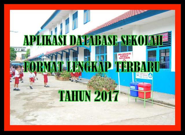 Aplikasi Database Sekolah Format Lengkap Terbaru Tahun 2017