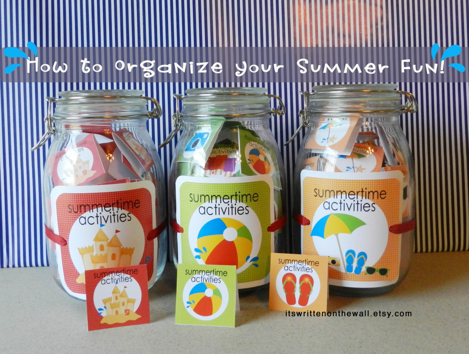 It S Written On The Wall Fun Ideas For Summer Vacation Activities Plus A Easy Way To Organize It