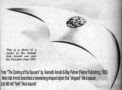 """Resultado de imagem para IMAGEM DO PRIMEIRO """"DISCO VOADOR"""" (UFO) DESCRITO EM 1947 POR KENNETH ARNOLD"""